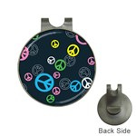 Peace & Love Pattern Hat Clips with Golf Markers