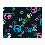 Peace & Love Pattern Small Glasses Cloth