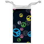 Peace & Love Pattern Jewelry Bag