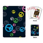 Peace & Love Pattern Playing Card