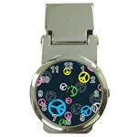 Peace & Love Pattern Money Clip Watches