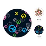 Peace & Love Pattern Playing Cards (Round)