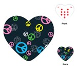 Peace & Love Pattern Playing Cards (Heart)