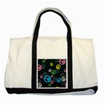 Peace & Love Pattern Two Tone Tote Bag
