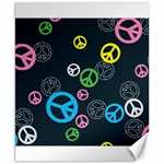 Peace & Love Pattern Canvas 8  x 10