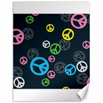 Peace & Love Pattern Canvas 12  x 16