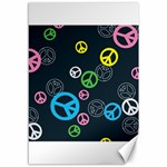 Peace & Love Pattern Canvas 12  x 18