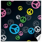 Peace & Love Pattern Canvas 16  x 16