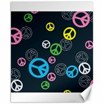 Peace & Love Pattern Canvas 16  x 20