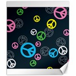 Peace & Love Pattern Canvas 20  x 24
