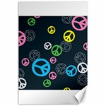Peace & Love Pattern Canvas 24  x 36