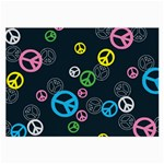 Peace & Love Pattern Large Glasses Cloth