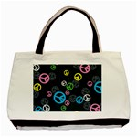 Peace & Love Pattern Basic Tote Bag (Two Sides)