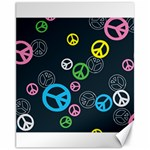 Peace & Love Pattern Canvas 11  x 14
