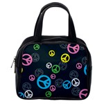 Peace & Love Pattern Classic Handbags (One Side)