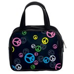 Peace & Love Pattern Classic Handbags (2 Sides)