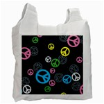 Peace & Love Pattern Recycle Bag (One Side)