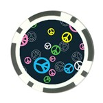 Peace & Love Pattern Poker Chip Card Guard (10 pack)