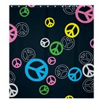 Peace & Love Pattern Shower Curtain 66  x 72  (Large)