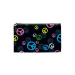 Peace & Love Pattern Cosmetic Bag (Small)