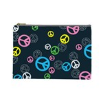 Peace & Love Pattern Cosmetic Bag (Large)
