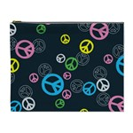 Peace & Love Pattern Cosmetic Bag (XL)