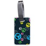 Peace & Love Pattern Luggage Tags (One Side)