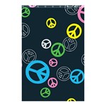 Peace & Love Pattern Shower Curtain 48  x 72  (Small)