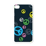 Peace & Love Pattern Apple iPhone 4 Case (White)