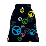 Peace & Love Pattern Bell Ornament (Two Sides)