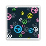 Peace & Love Pattern Memory Card Reader (Square)