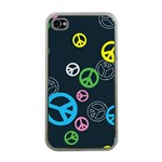 Peace & Love Pattern Apple iPhone 4 Case (Clear)