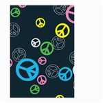 Peace & Love Pattern Small Garden Flag (Two Sides)