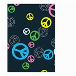 Peace & Love Pattern Large Garden Flag (Two Sides)