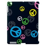 Peace & Love Pattern Apple iPad 3/4 Hardshell Case (Compatible with Smart Cover)