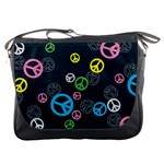 Peace & Love Pattern Messenger Bags
