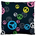 Peace & Love Pattern Large Cushion Case (One Side)