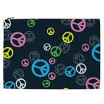 Peace & Love Pattern Cosmetic Bag (XXL)