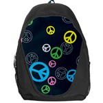 Peace & Love Pattern Backpack Bag