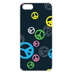 Peace & Love Pattern Apple iPhone 5 Seamless Case (White)