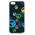 Peace & Love Pattern Apple Seamless iPhone 5 Case (Clear)