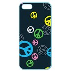 Peace & Love Pattern Apple Seamless iPhone 5 Case (Color)