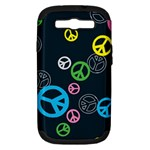 Peace & Love Pattern Samsung Galaxy S III Hardshell Case (PC+Silicone)