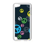 Peace & Love Pattern Apple iPod Touch 5 Case (White)