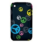 Peace & Love Pattern iPhone 3S/3GS
