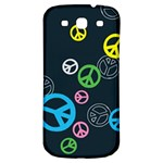 Peace & Love Pattern Samsung Galaxy S3 S III Classic Hardshell Back Case