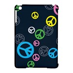 Peace & Love Pattern Apple iPad Mini Hardshell Case (Compatible with Smart Cover)