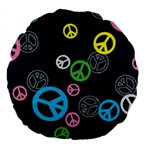 Peace & Love Pattern Large 18  Premium Round Cushions