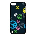 Peace & Love Pattern Apple iPod Touch 5 Hardshell Case with Stand