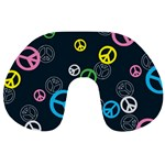 Peace & Love Pattern Travel Neck Pillows